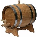 Barril de Roble 15L barril de madera para almacenamiento o Envejecimiento vino y bebidas