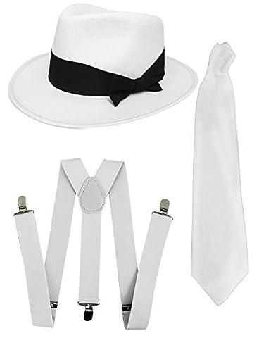 Costumes Al Capone - Accessoires déguisement gangster Ensemble noir ou blanc