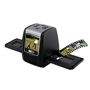 TeckNet® 5M/10M Slide, Negative and Black/White Film Scanner to SD Card, With 32MB Build-in Memory - Full Black