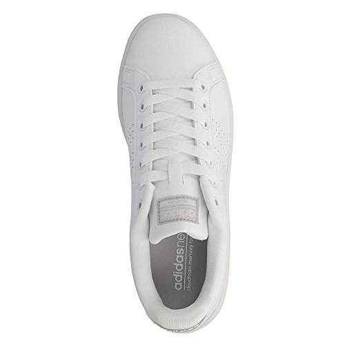 adidas Cloudfoam Advantage Clean W, Scarpe da Ginnastica Donna bianco (Ftwbla / Ftwbla / Plamet)