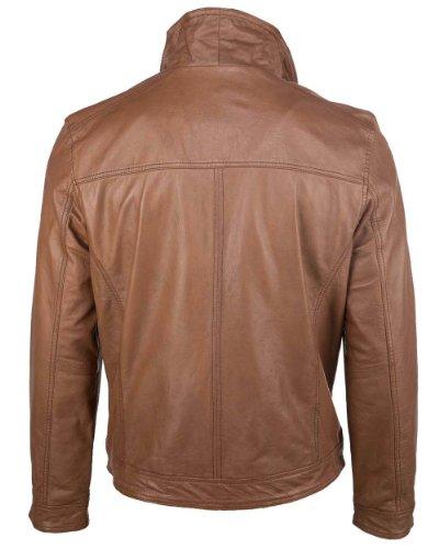 Mustang Leather Herren Jacke MU-M13-Ward Echtleder Cognac