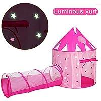 ACTNOW Tienda campaña Infantil Luminosa con túnel para niños/Castillo con Estrellas Luminosas ...
