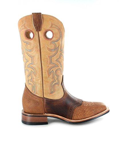 Boulet 0231 EEE Butterscotch/ Herren Westernreitstiefel Braun/ Brauner Reitstiefel/ Westernstiefel/ Western Riding Boots Cognac Tan
