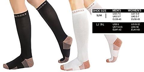 2Pair Unisex Compression Socks -Graduated Support Knee High Socks- Best