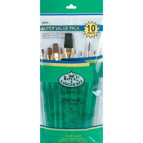 Royal Brush Ultra Kurz Sable/Camel Super Value Pack Bürste set-10/Pkg, andere, Mehrfarbig - Value Pack Von Camel
