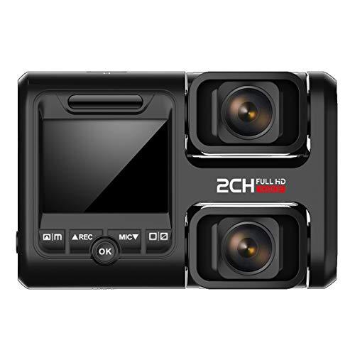 HOFOUND DashCam Full HD 1080P Vorne und 1080P Hinten Kamera Dash Camera Dual Lens Autokamera mit 340° Sichtfeld, Super Nachtsicht, GPS, Parkmodus, Bewegungserkennung inkl. 32GB Speicherkarte