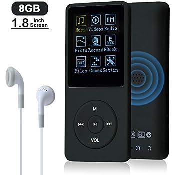 AGPTEK MP3 Player 8GB verlustfrei MP3 mit 1,8 Zoll Bildschirm 70 Stunden Wiede