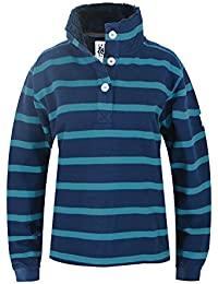 Lazy Jacks Supersoft Stripe Sweatshirt with Fleece Lined Collar