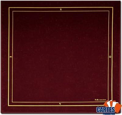 Tapis Morize Galonné Bordeaux 77x77