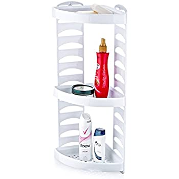 Adjustable Plastic 3 TIER BATHROOM CORNER SHOWER CADDY Organiser ...