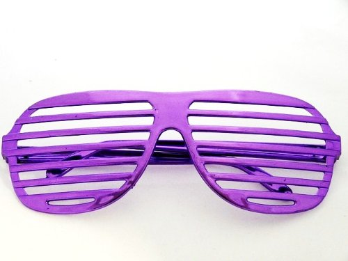 Nerd ClearÂÂ Space Atzen Party Brille in Lila-Metallic!