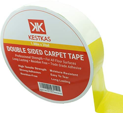 KESTKAS Doppelseitiges Anti-Rutsch-Klebeband für Teppiche, stark haftend, hinterlässt keine Rückstände 50mm 27M