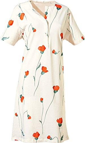 Pill Nachthemd mit Knopfleiste Single-Jersey weiss Größe 48/50