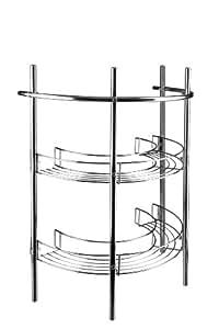 Croydex, Mensole per lavandino cromate Waschbecken-Unterschrank verchromt