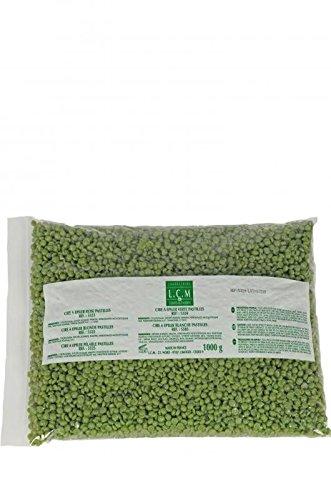 Cire Perles L.C.M Vert 1Kg Peau Sensible