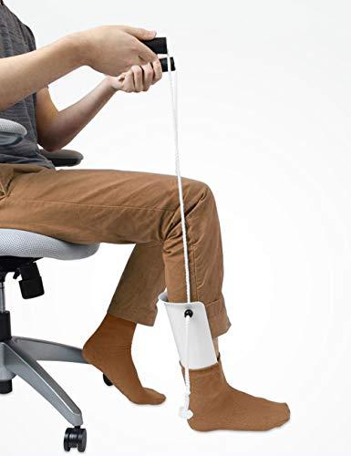 iGuerburn Socken Anziehhilfe - Einfaches An- und Ausziehen von Strümpfen - Strumpfanziehhilfe - Greifhilfe für Kompressionssocken - für ältere Menschen, Senioren, Schwangere, Diabetiker - Greifzange