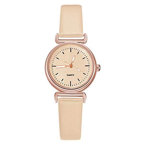 a6c12da1e73e Reloj Mujer Banda Cuero Cuarzo Watches Mujer Casual Vintage Reloj Dial  Análogo Dial Reloj De.