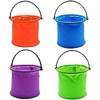 Stronrive Cubo Plegable, Cubo De Lavado De Plástico De Pintura, Cubo De Agua Portátil para Pesca para Camping De Viaje De Pintura - Color Aleatorio