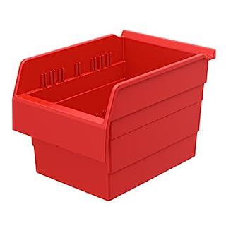 Akro-Mils 30880 ShelfMax Nistkasten, 8 Kunststoff-Box, 12 cm x 8 cm x 8 cm, Rot, 8 Stück