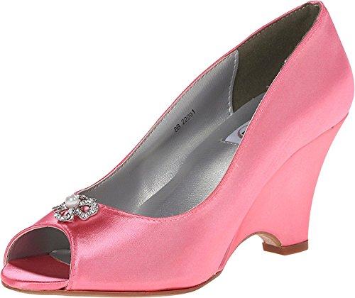 Dyeables Frauen Flache Sandalen Orange Groesse 8 US/39 EU (Schuhe Dyeables)