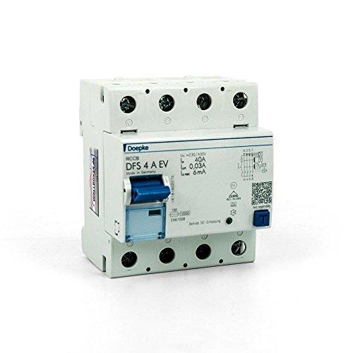 Doepke FI-Schutzsschalter Typ EV 4-pol. DFS 4 A EV für die Elektromobilität Wallbox24