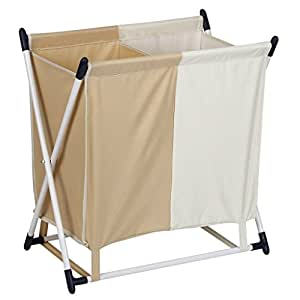 finether panier linge 2 compartiments 22 lbs 10 kg cuisine maison. Black Bedroom Furniture Sets. Home Design Ideas