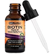 MAX ABSORPTION Biotin Liquid Drops, 5000mcg of Biotin Per Serving, 60 serving, No Artificial Preservatives, Vegan Friendly, Supports Hair Growth, Strong Nails and Glowing Skin, Made in USA