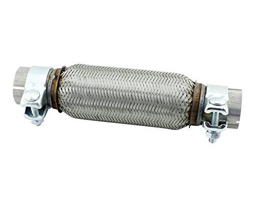 50x 200mm tubo flessibile in acciaio inox universale con montaggio fascette