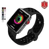 FunBand Armband Sport Strap für Apple Watch, Nike + Edition Soft Silikonarmband Wrist Replacement Armbanduhr Uhrenarmband Schlaufe Armbänder für Apple Watch Series 3,Series 2,Series 1