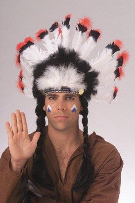 Native American Indian Chief Kopfschmuck (Indian Chief Kostüm Zubehör)