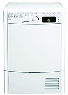 Indesit EDCE85BTM 8kg White Condenser Sensor Tumble Dryer from Indesit