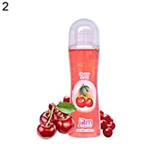 Idea Regalo - Lubrificante per il corpo di potenziamento del sesso delle coppie a base d'acqua commestibile al gusto di frutta di GSYClbf 100g - * Ciliegia