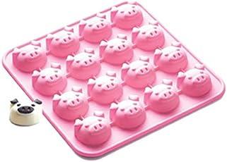"Siliconezone Piggy Collection 6.9"" Non-Stick Silicone Chocolate Mold, Pink"