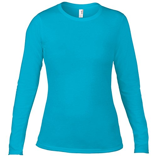 Anvil Damen Fashion Longsleeve / T-Shirt, langärmlig Schwarz