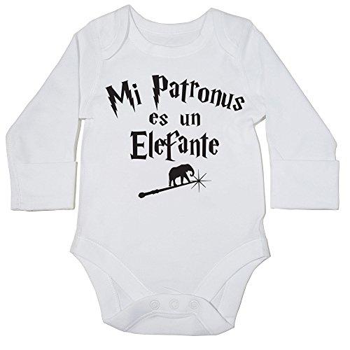 HippoWarehouse Mi Patronus es un Elefante momento body manga larga bodys pijama niños niñas unisex