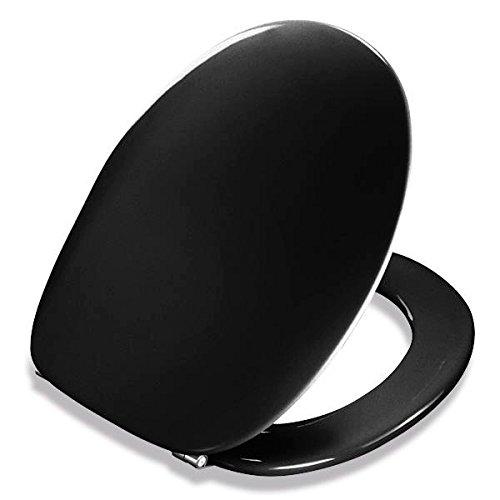 Preisvergleich Produktbild Pressalit 2000 WC-Sitz schwarz, Univertikalscharnier UN3, 124001UN3999