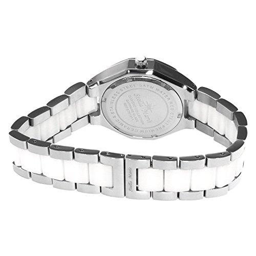 Image of Stella Maris - STM15Y1 - wrist watch for women - quartz movement analog display - white dial - white ceramic bracelet