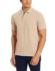 Peter England Mens Polo T-Shirt (8907495174303_PKW1041600823_XL_Beige)