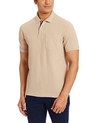 Peter England Men's Polo T-Shirt (8907495174297_PKW1041600823_L_Beige)