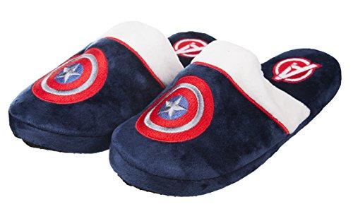Marine Marvel Comics Captain America Slip On Hausschuhe