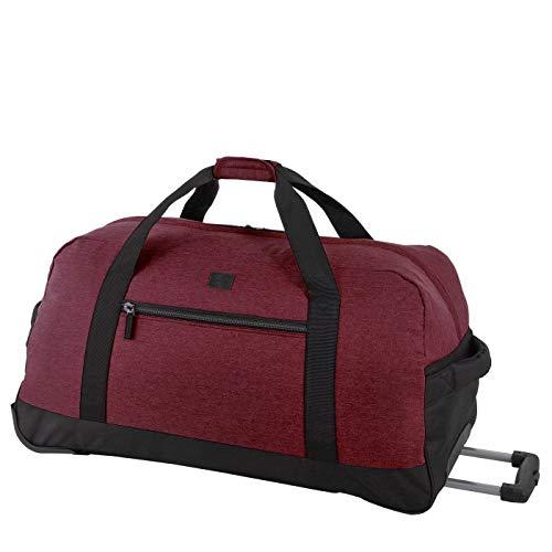 Rada Reisetasche RT 32 L 82 Liter mit Rollen und ausziehbarem Teleskopgestänge, wasserabweisend für Jungen und Mädchen, Reisetasche perfekt für den Urlaub (Maße: 38x75x37cm) (brodo rot)
