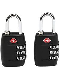 TSA Equipaje Locks, Ballery 2 x Candado TSA Equipaje de Seguridad Combinación De 3 Dígitos para Maleta De Viaje, Bolsa De Viaje, Cerraduras De Equipaje