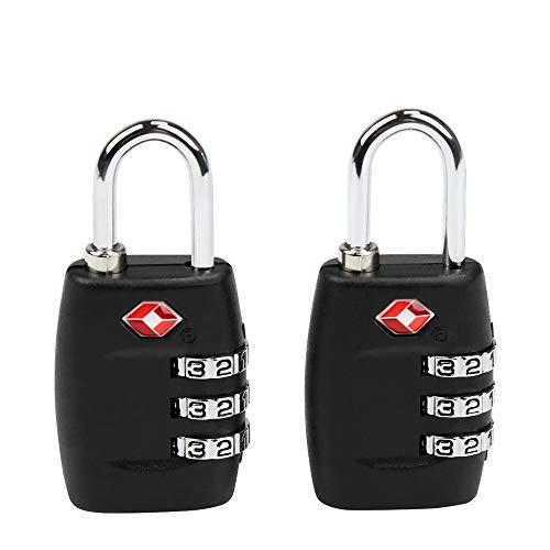 TSA Equipaje Locks, Ballery 2 x Candado TSA Equipaje