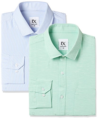 Excalibur by Unlimited Men's Solid Regular Fit Formal Shirt (Pack of 2) (275367400 ASSORTED 42)