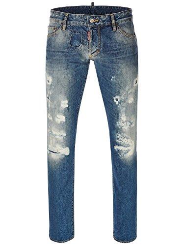 Jeans bleu S71LA0893 Dsquared2 Slim Jean Hommes 75a1985e7716