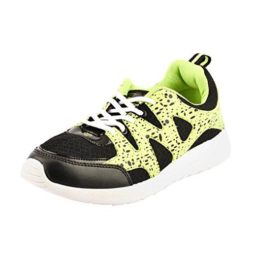 Provogue Pv1402-black Men Running Sports Shoes