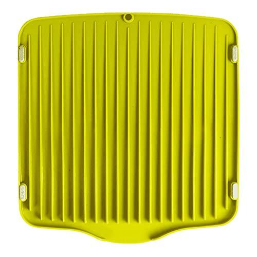 WYQ Égouttoir Couverts Plastique (Vert, Blanc, Jaune) égouttoir Vaisselle Gardez Le Bien rangé (Couleur : Green, Taille : 35cm × 33.5cm × 2.8cm)