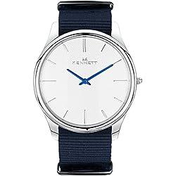 White/Navy Kensington Watch by Kennett