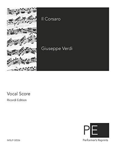 Il corsaro - Vocal Score