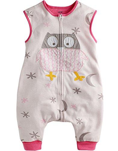 Vaenait baby Kinder Babyschlafsack Baumwolle Cotton Sleepsack Pink Owl Sleep M